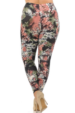 Wholesale Buttery Soft Twilight Tie Dye Extra Plus Size Leggings - 3X-5X