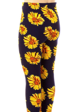 Wholesale Buttery Soft Summer Daisy Kids Leggings
