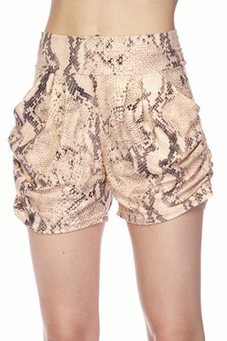 Wholesale Buttery Soft Creamy Snakeskin ShortsWholesale Buttery Soft Creamy Snakeskin Shorts