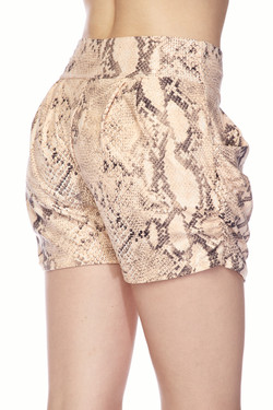 Wholesale Buttery Soft Creamy Snakeskin Shorts