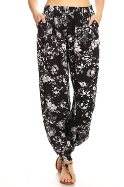 Wholesale Midnight Floral Harem Leggings