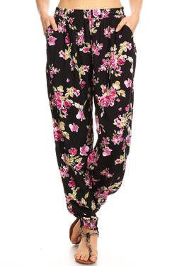 Wholesale Spring Floral Harem Leggings