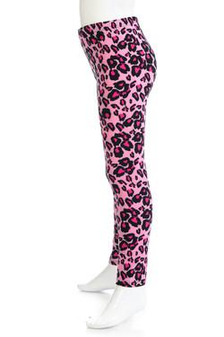 Wholesale Buttery Soft Pink Leopard Kids Leggings