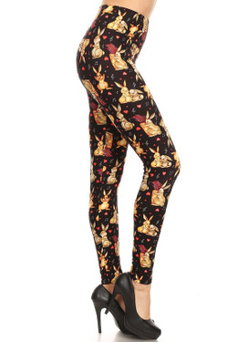 Wholesale Buttery Soft Easter Bunny Plus Size Leggings - 3X-5X