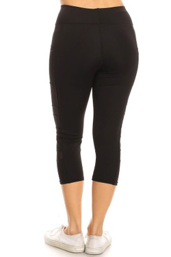 Wholesale  Active Sport Side Mesh Capri