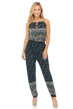 Wholesale Fashion Casual Tasty Teal Summer Jumpsuit