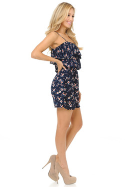 Wholesale Fashion Casual Dainty Summer Floral Romper