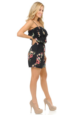 Wholesale Fashion Casual Floral Bunch Summer Romper