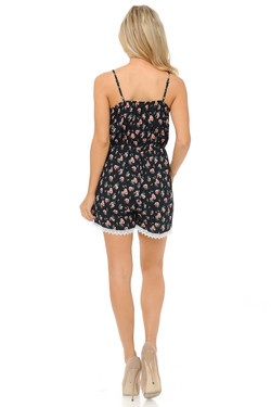Wholesale Fashion Casual Cute Mini Floral Romper