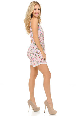 Wholesale Fashion Casual Perfect Pink Floral Romper