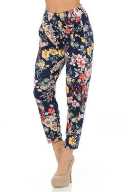 Wholesale Buttery Soft Floral Burst Harem Pant