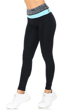 Wholesale Pastel Band Sport Ready Workout Leggings