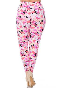 Wholesale Buttery Soft Gorgeous Pink Flamingos Plus Size Leggings - 3X-5X