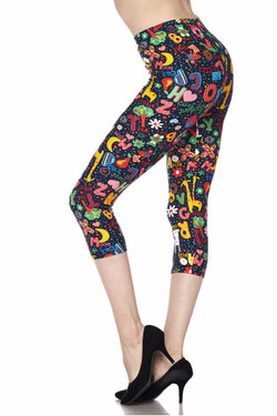 Wholesale Buttery Soft Animal Letters Capris