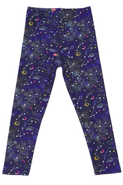 Wholesale Buttery Soft Space Constellation Kids Leggings