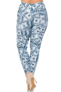 Wholesale Creamy Soft Raining Money Extra Plus Size Leggings - 3X-5X - USA Fashion™