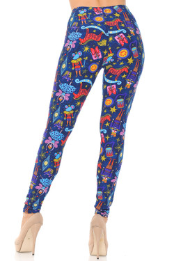 Wholesale Buttery Soft Nutcracker Christmas Trinkets Extra Plus Size Leggings - 3X-5X