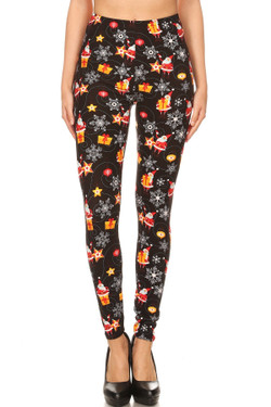 Wholesale Buttery Soft Santa's Wonderland Christmas Plus Size Leggings