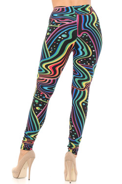 Wholesale Buttery Soft Rainbow Bash Extra Plus Size Leggings - 3X-5X