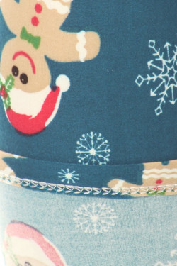 Wholesale Buttery Soft Christmas Cookies and Snowflakes Kids Leggings