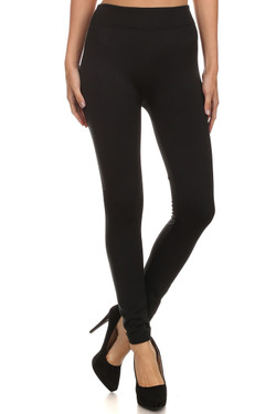 Front image of Wholesale Premium Women's Fleece Lined Leggings