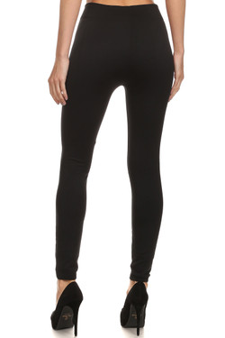 Back image of Wholesale Premium Women's Fleece Lined Leggings