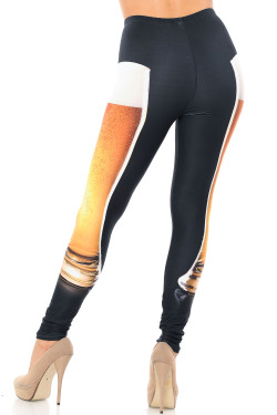 Wholesale Creamy Soft Draft Beer Plus Size Leggings - USA Fashion™