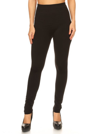 Front image of Wholesale Fleece Lined Leggings