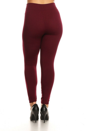 Wholesale Warm Fleece Lined Plus Size Leggings