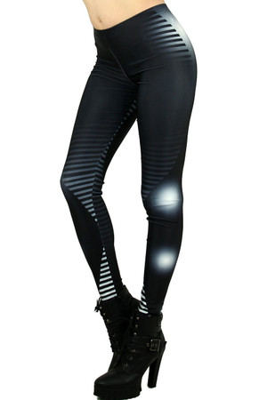 Left Side Image of DP-1129KDK - Wholesale Premium Graphic Leggings