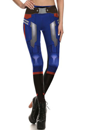 Front side image of DP-1645KDK - Wholesale Premium Graphic Leggings