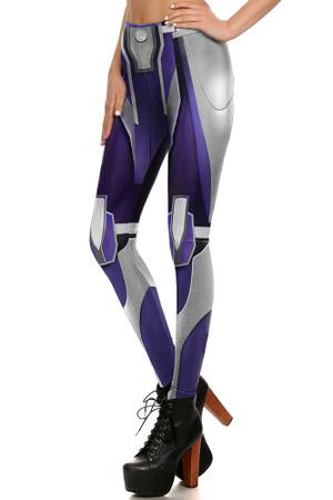 Left side leg image of DP-1671KDK - Wholesale Premium Graphic Leggings