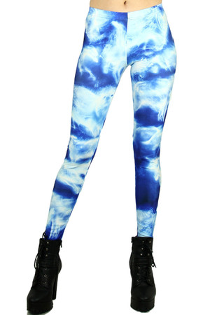 Front side image of Wholesale Premium Graphic Print Animal Vapor Leggings