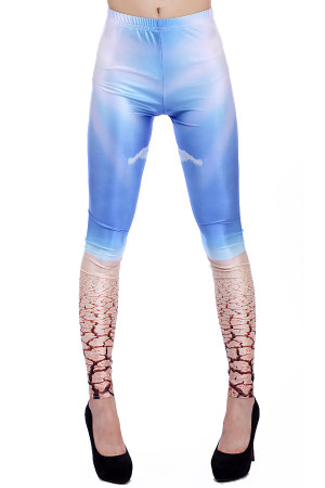 Front side image of Wholesale Premium Graphic Desert Leggings