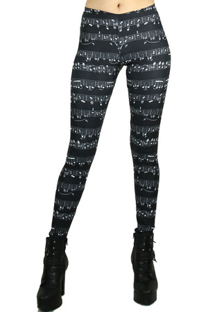 Front side image of Wholesale Premium Graphic Musical Leggings