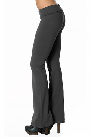 Left Side Image of Wholesale USA Solid Cotton Yoga Leggings