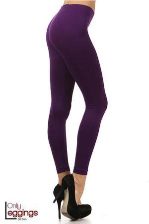 Right Side Image of Basic Full Length Spandex Leggings