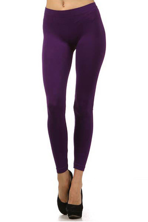 Front side image of Basic Full Length Spandex Leggings Profile