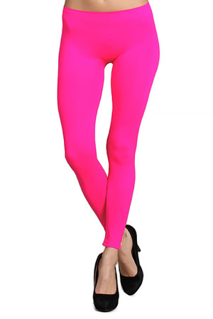Front side image of Full Length Neon Nylon Spandex Leggings
