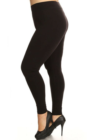Wholesale High Waisted Cotton Sport Plus Size Leggings