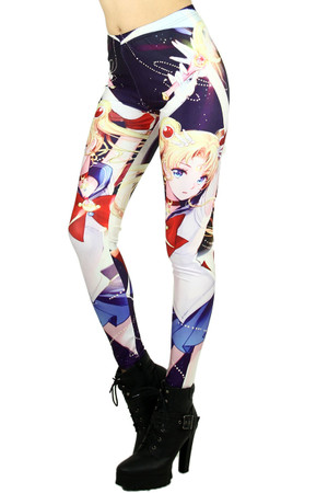 Wholesale Graphic Print Sailor Moon Leggings