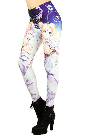 Wholesale Graphic Princess Moon Leggings