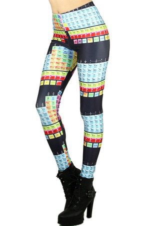 Wholesale Graphic Print Periodic Table Leggings