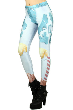 Wholesale Graphic  Female Robot Leggings