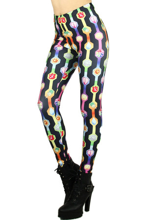 Wholesale Graphic Pokemon Badge Leggings