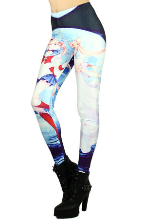 Wholesale Graphic  Sailor Moon Cartoon Leggings