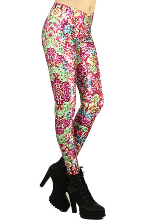 Wholesale Graphic  Wrapped Bows Leggings