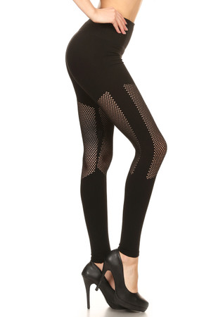 Wholesale Premium Jedi Mesh Seamless Leggings