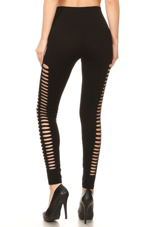 Wholesale Premium Duo Side Slashed Seamless Leggings
