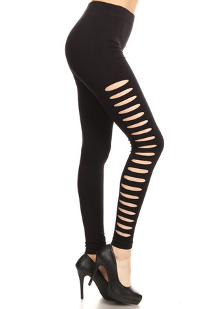 Wholesale Side Slashed Seamless Leggings